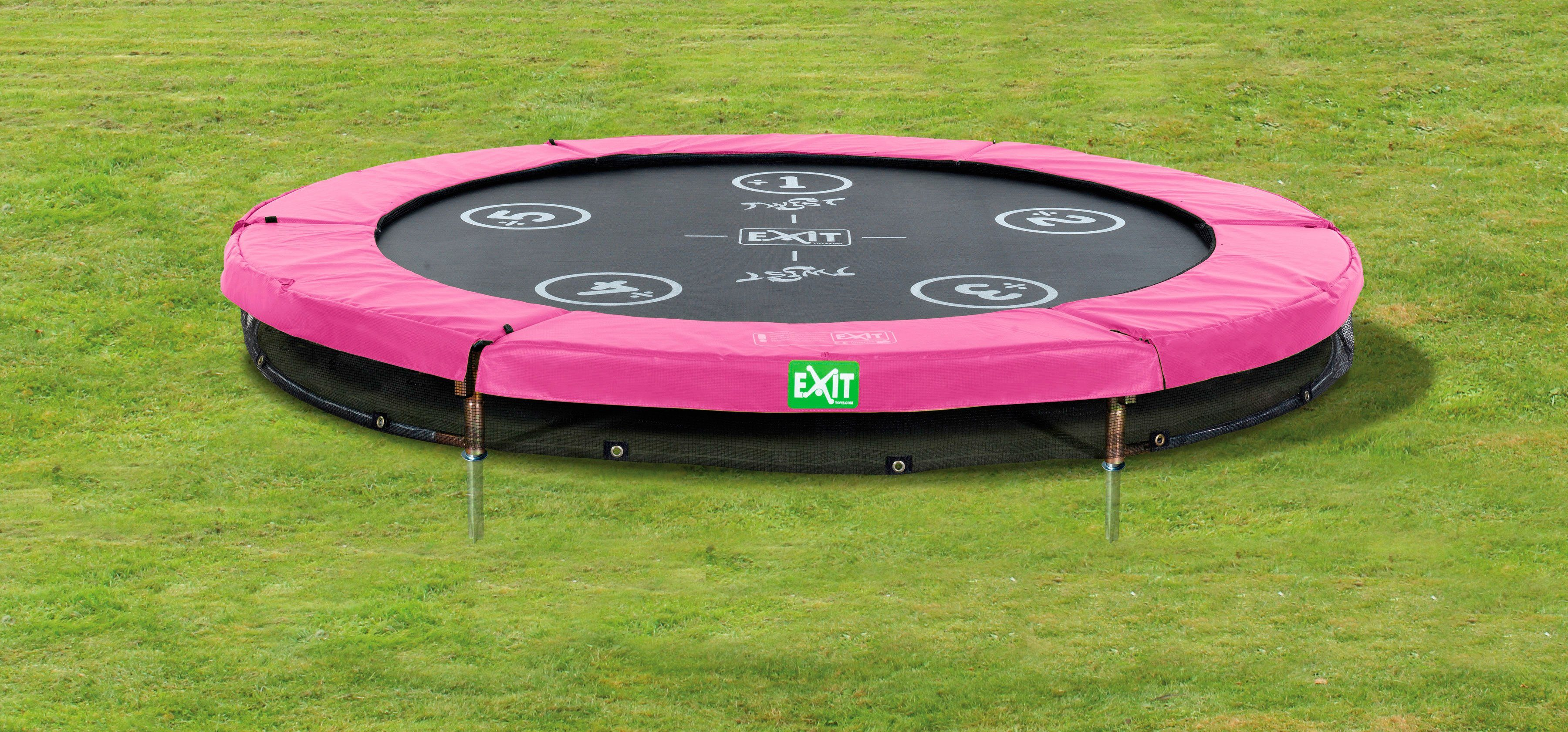 Exit Trampolin »EXIT Twist Ground«, ø 183 cm Rosa/Grau