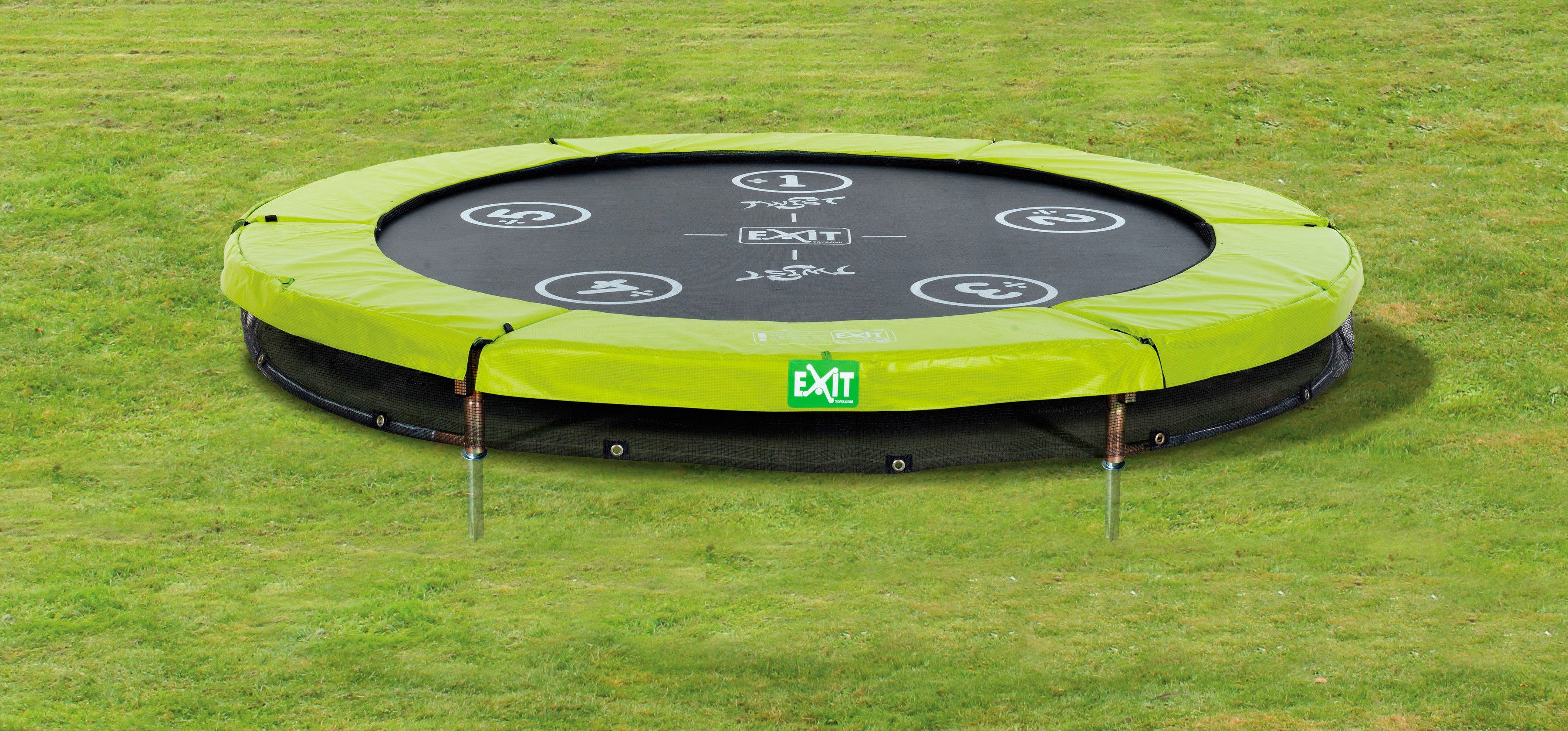 Exit Trampolin »EXIT Twist Ground«, ø 244 cm Grün/Grau