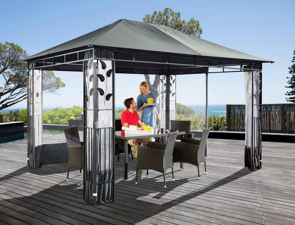 Ersatzdach für Pavillon »Blätter« (3 x 4 m) in anthrazit