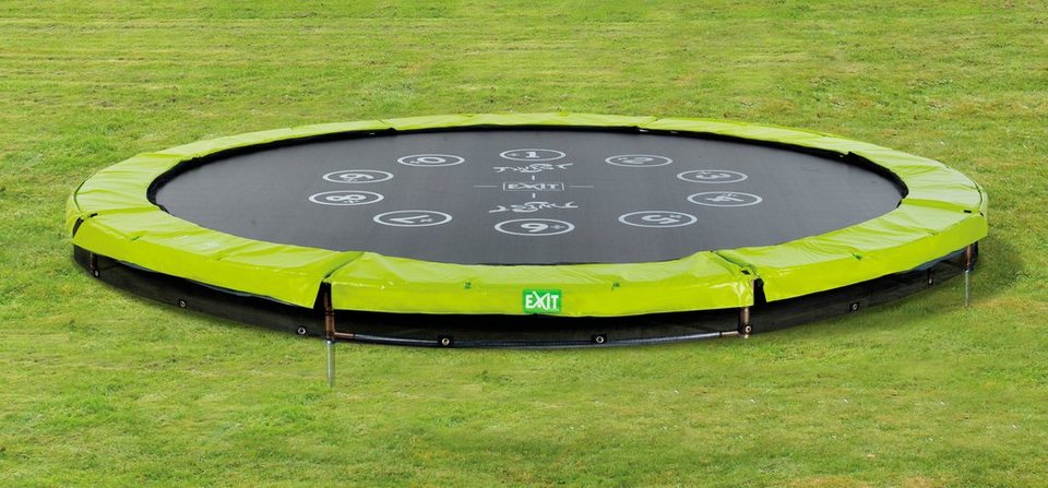 Exit Trampolin »EXIT Twist Ground«, ø 305 cm Grün/Grau
