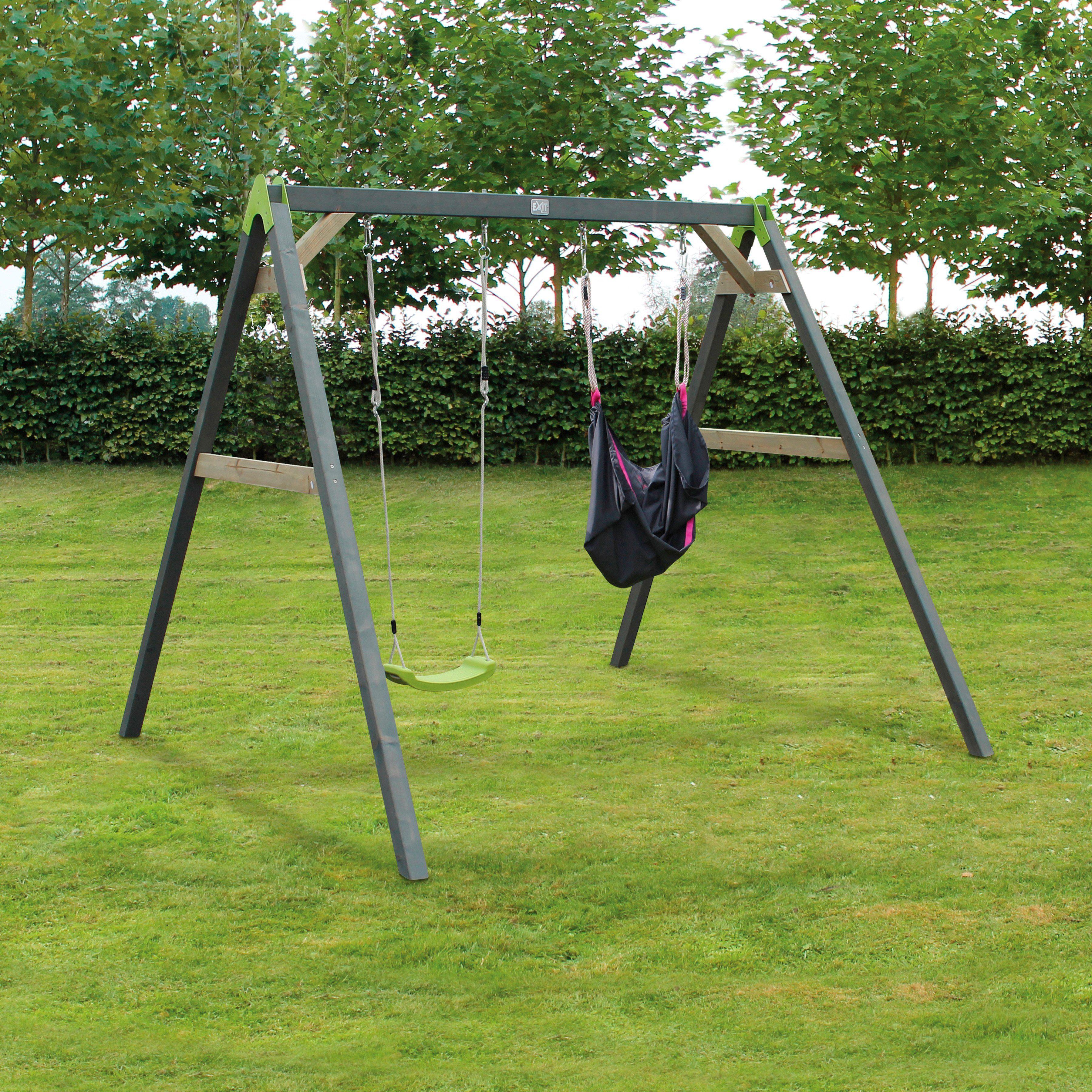EXIT Doppelschaukel »Aksent SwingBag«, B/L/H: 265/235/217 cm, rosa