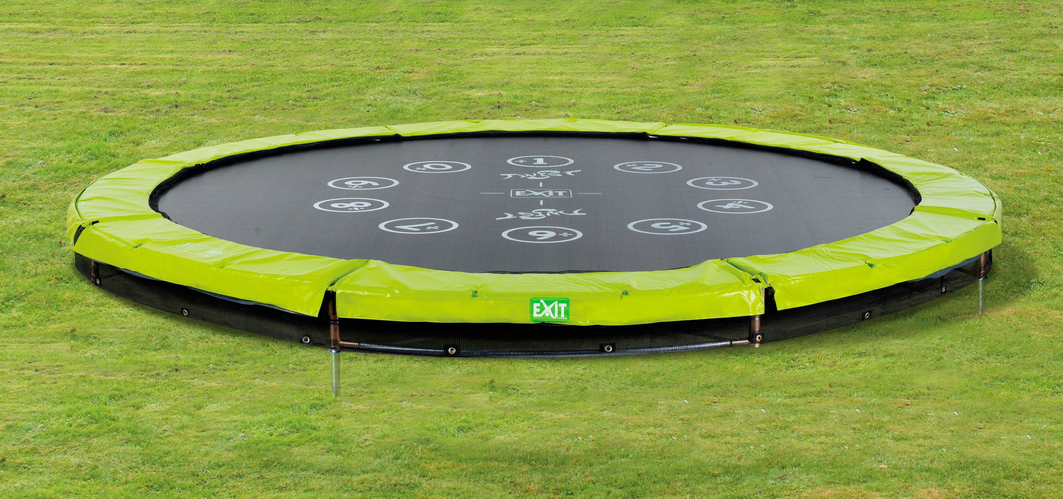 Exit Trampolin »EXIT Twist Ground«, ø 366 cm Grün/Grau