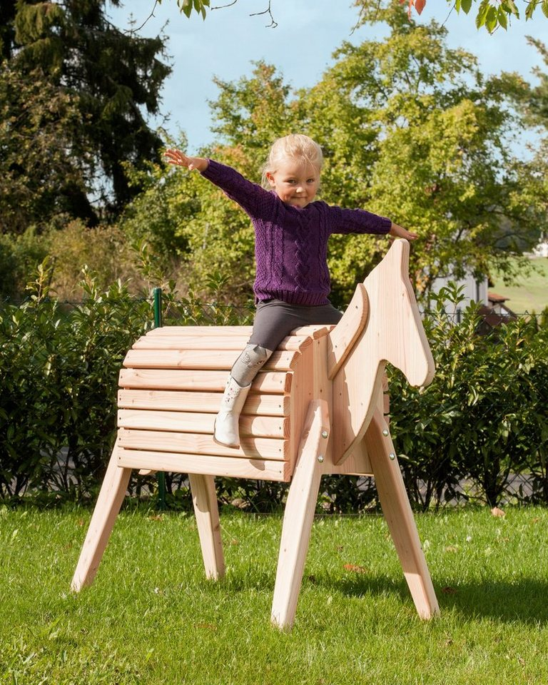 JUNGLE GYM Holzpferd  Godi , BxLxH: 61x155x108 cm