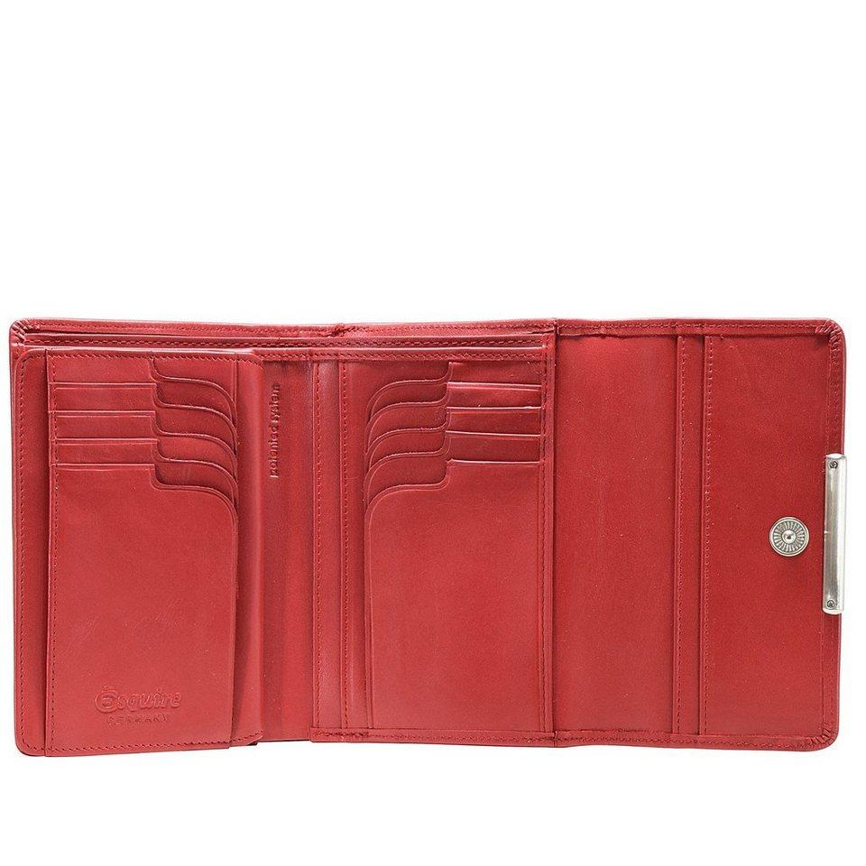 Esquire Esquire Helena Geldbörse Leder 14 cm in rot