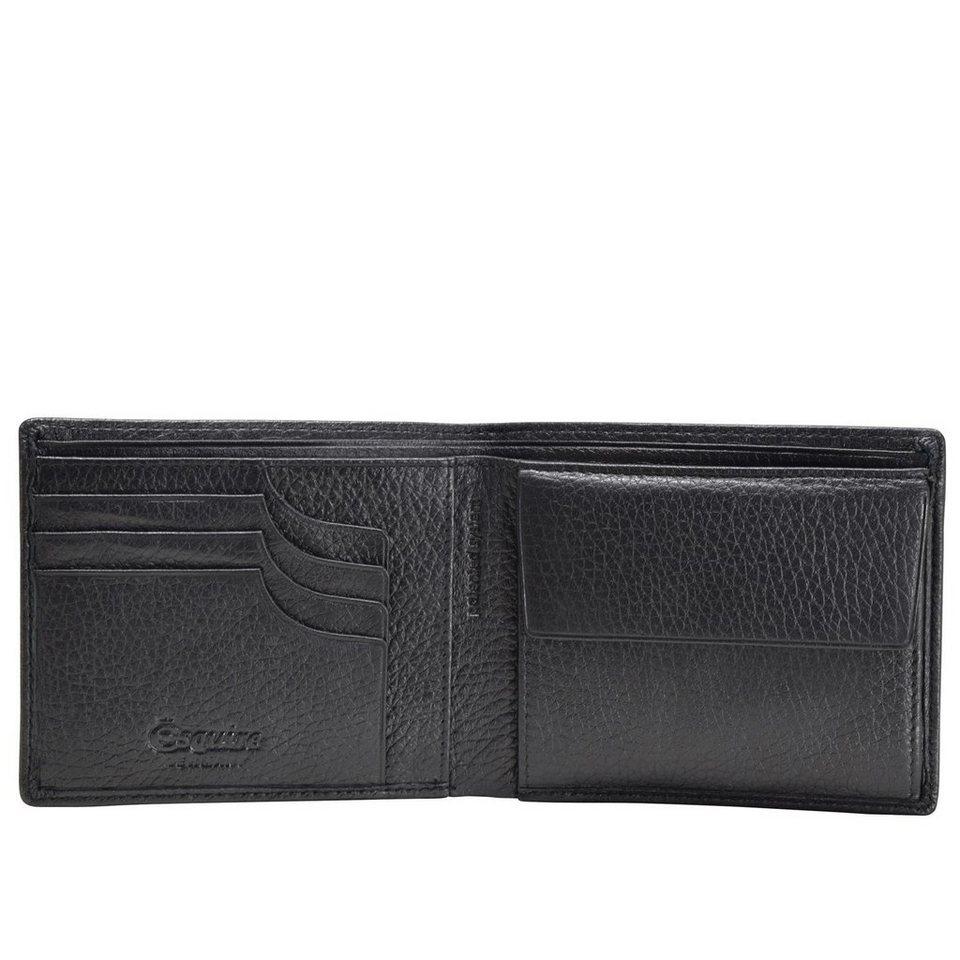 Esquire Esquire Deer Geldbörse Leder 12 cm in schwarz
