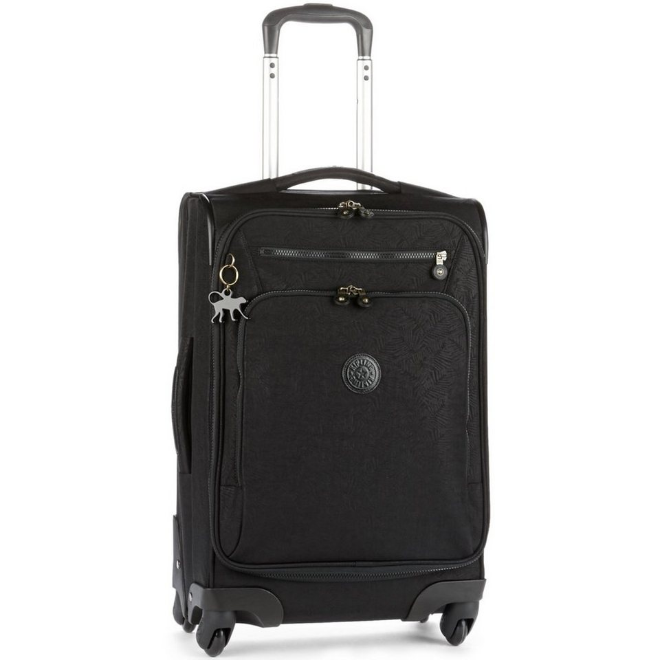 Kipling Block Print Travel 4-Rollen Trolley Youri Spin 55 cm in black leaf