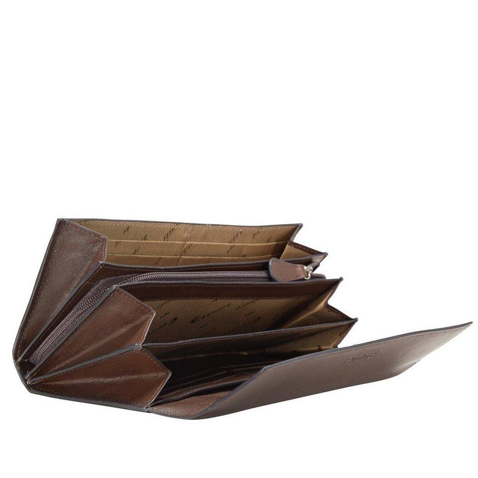 Esquire Vienna Geldbörse Leder 19 cm in mocca