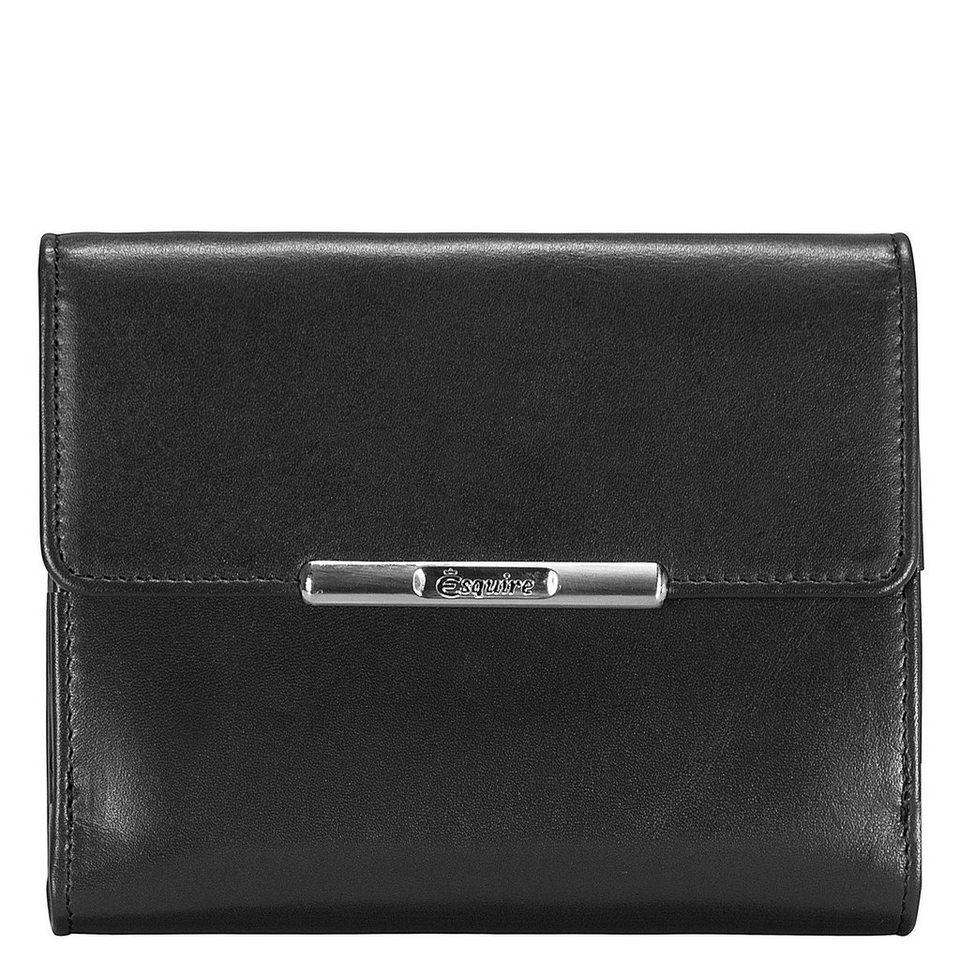 Esquire Helena Geldbörse Leder 12 cm in schwarz