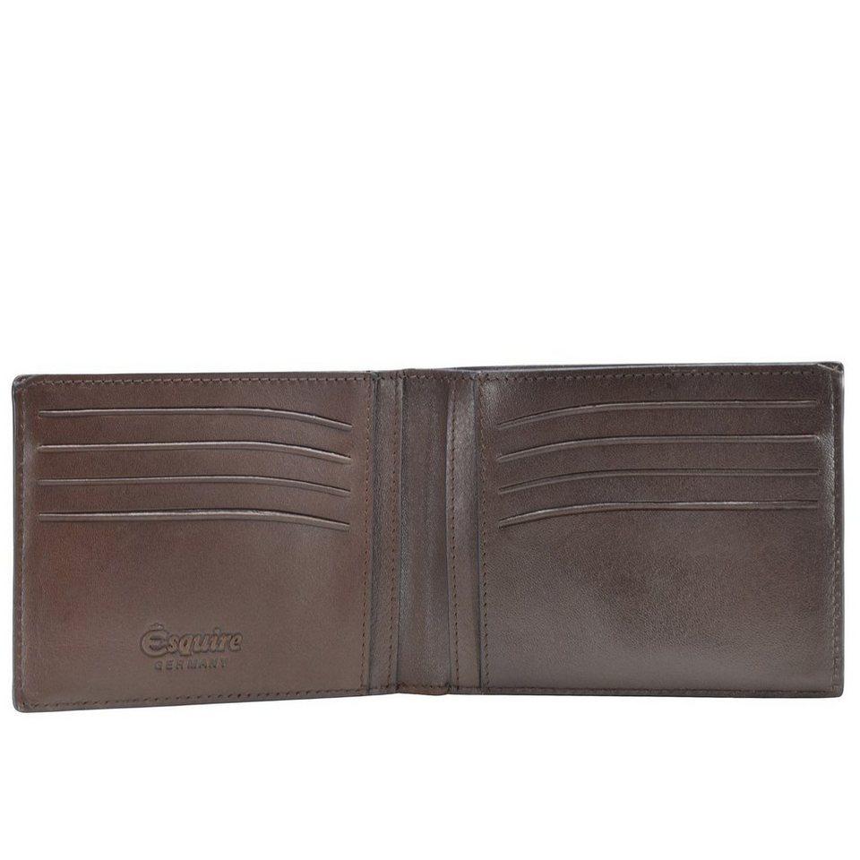 Esquire Vienna Geldbörse Leder 12 cm in mocca