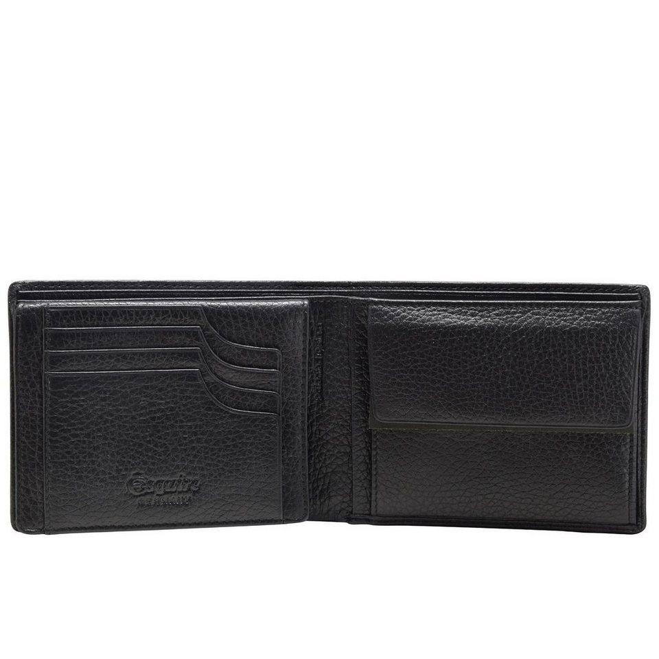 Esquire Deer Geldbörse Leder 12 cm in schwarz