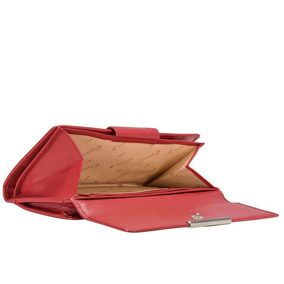 Esquire Helena Geldbörse Leder 18 cm in rot
