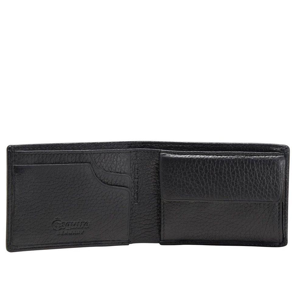Esquire Deer Geldbörse Leder 10 cm in schwarz