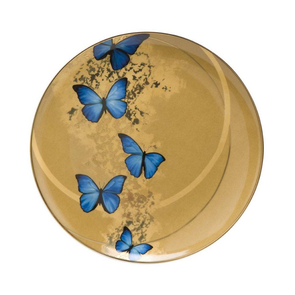 Goebel Blue Butterflies - Frühstücksteller »Artis Orbis« in Bunt