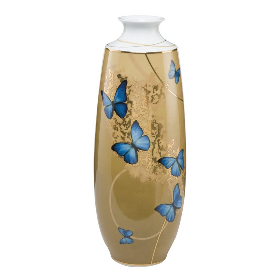 Goebel Blue Butterflies - Vase »Artis Orbis« in Bunt