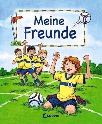 Gebundenes Buch »Meine Freunde (Motiv Fußball)«