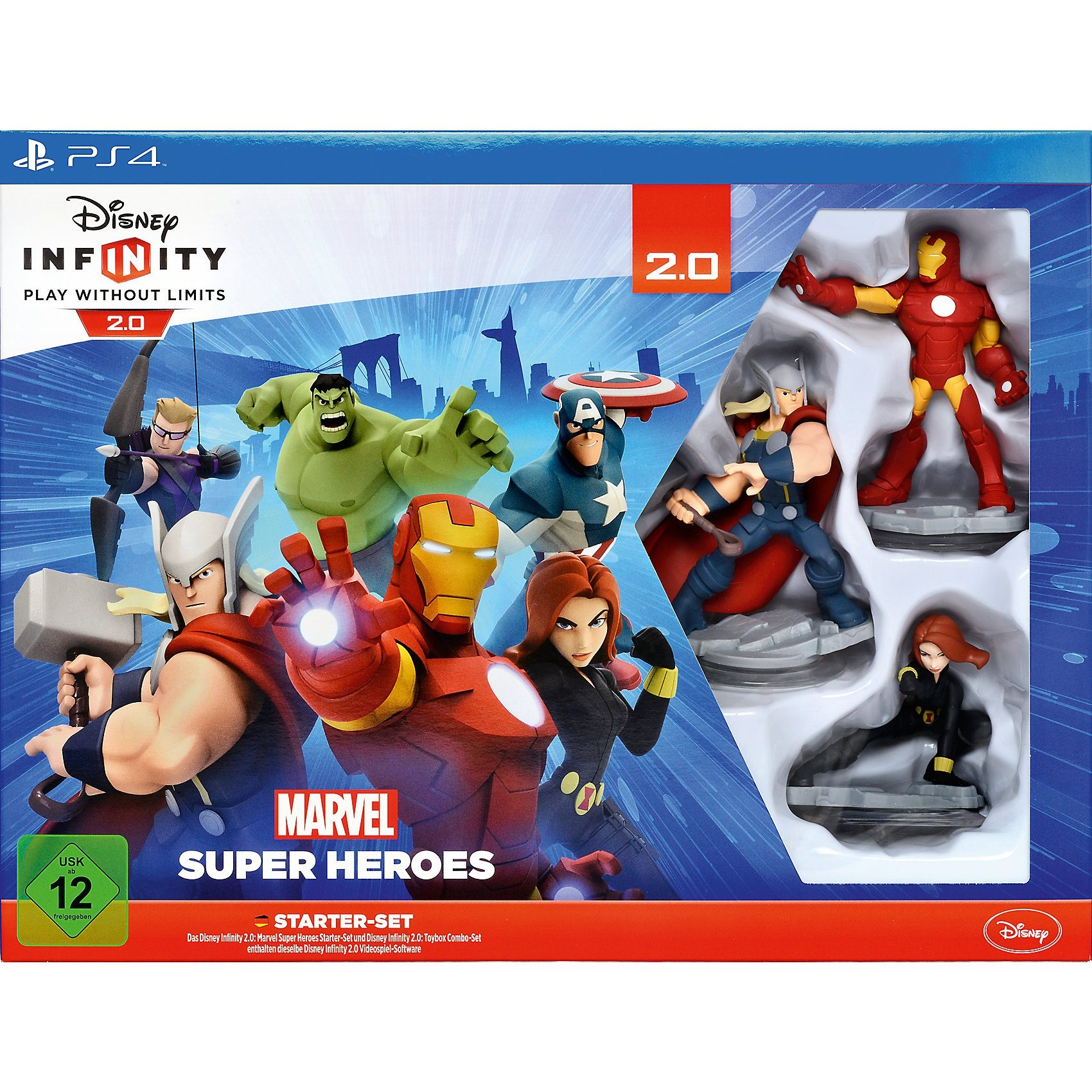 ak tronic PS4 Disney Infinity 2.0 Marvel Super Heroes Starter Set