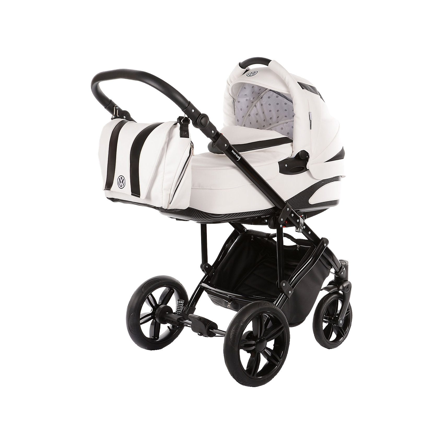 knorr-baby Kombi Kinderwagen Volkswagen Carbon, weiß