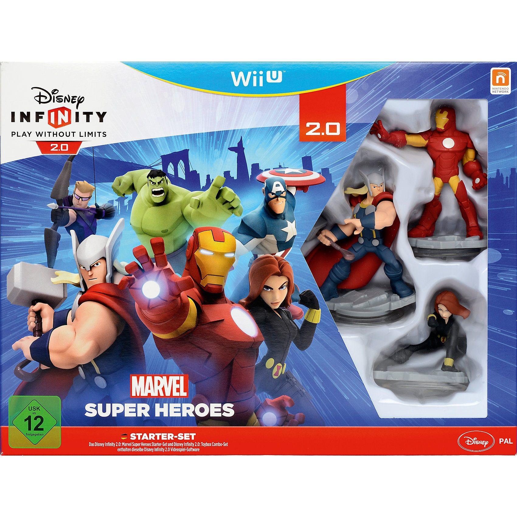 ak tronic Wii U Disney Infinity 2.0 Marvel Super Heroes Starter Set