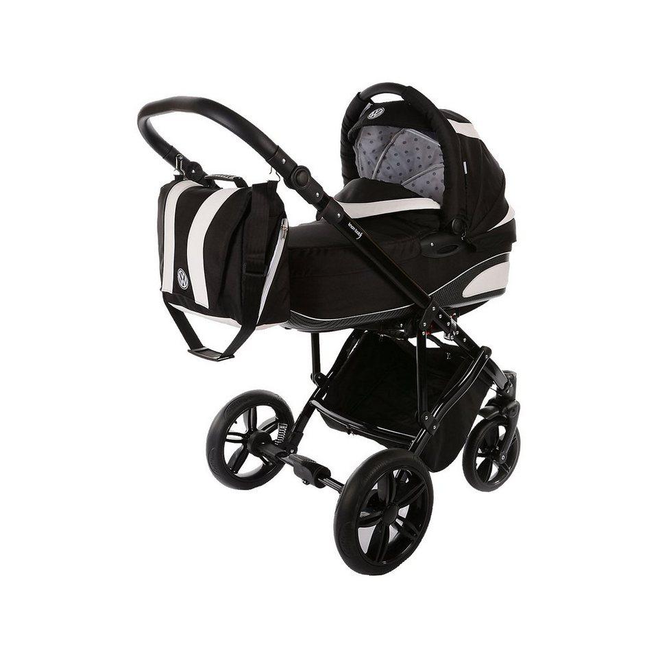 knorr-baby Kombi Kinderwagen Volkswagen Carbon, schwarz in schwarz
