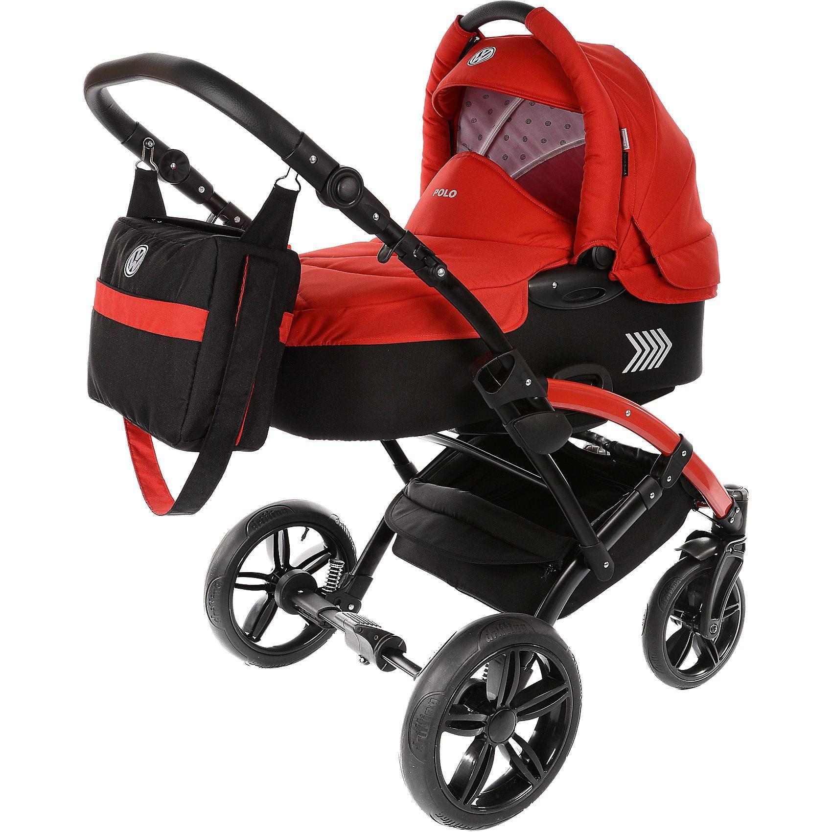 knorr-baby Kombi Kinderwagen Volkswagen Polo, rot