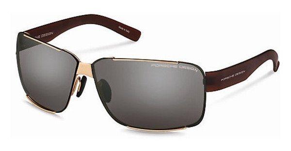 Porsche Design Herren Sonnenbrille » P8580« in E - gold/ silber