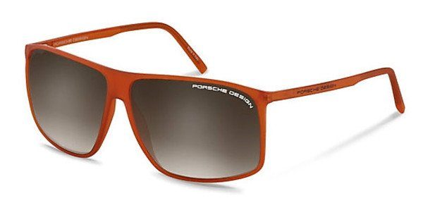 PORSCHE Design Porsche Design Herren Sonnenbrille » P8594«, orange, C - orange/grau