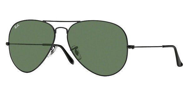 RAY-BAN Herren Sonnenbrille »AVIATOR LARGE METAL II RB3026« in L2821 - schwarz/grün