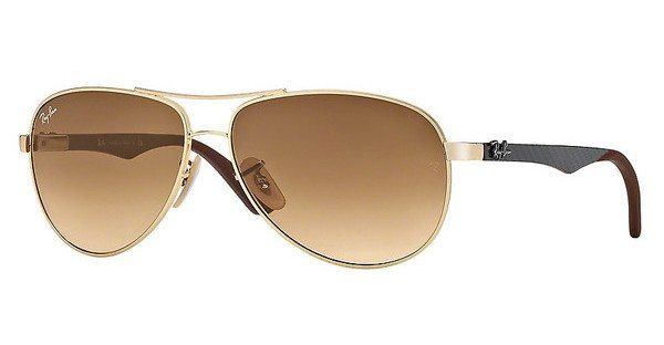 RAY-BAN Sonnenbrille »CARBON FIBRE RB8313« in 001/51 - gold/braun