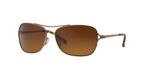 Oakley Damen Sonnenbrille »CONQUEST OO4101« in 410101 - gold/braun