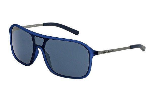Dolce & Gabbana Herren Sonnenbrille »Lifestyle DG6083« in 265087 -  blau gummiert / grau