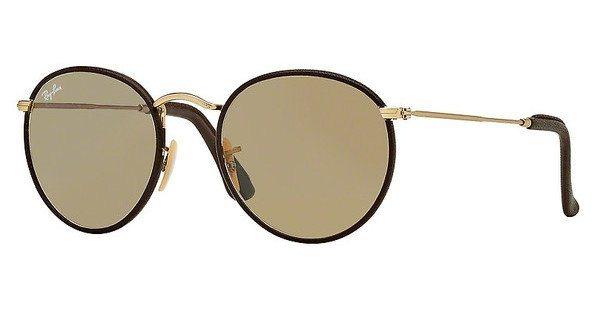 RAY-BAN Sonnenbrille »ROUND CRAFT RB3475Q« in 112/53 - gold/braun