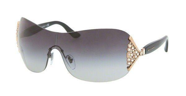 Bvlgari Damen Sonnenbrille » BV6061B« in 376/8G - gold/grau