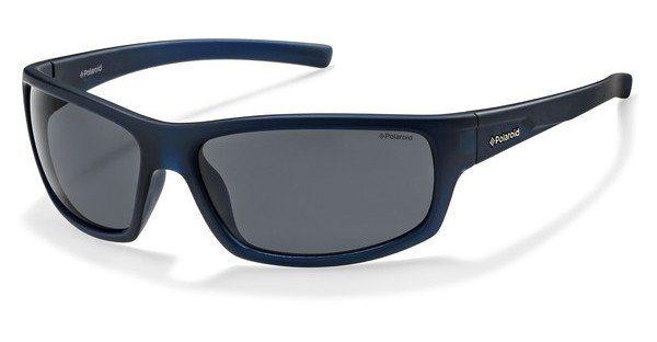 Polaroid Herren Sonnenbrille » P8411« in 148/Y2 - blau/grau
