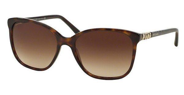 Bvlgari Damen Sonnenbrille » BV8152B« in 504/13 - braun/braun