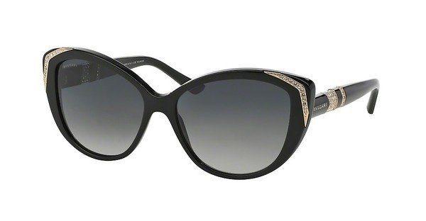 BVLGARI Bvlgari Damen Sonnenbrille » BV8151BM«, schwarz, 501/T3 - schwarz/grau