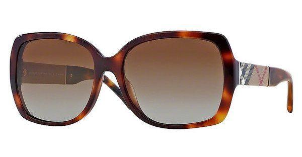 BURBERRY Burberry Damen Sonnenbrille » BE4160«, braun, 3316T5 - braun/braun