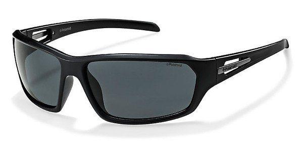 Polaroid Herren Sonnenbrille » P8408« in BC5/Y2 - schwarz/grau