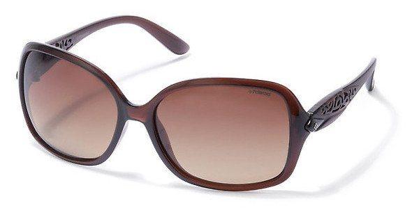 Polaroid Damen Sonnenbrille » P8343« in 09Q/LA - braun/braun