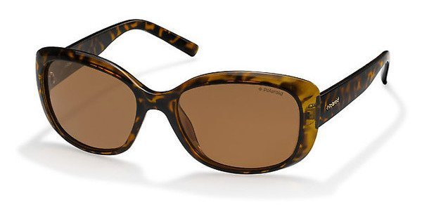 Polaroid Damen Sonnenbrille » PLD 4013/S« in V08/HE - braun/braun