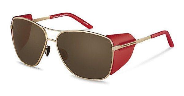 Porsche Design Damen Sonnenbrille » P8600« in B - gold/braun