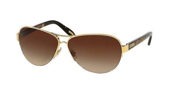 Ralph Damen Sonnenbrille » RA4095« in 106/13 - gold/braun