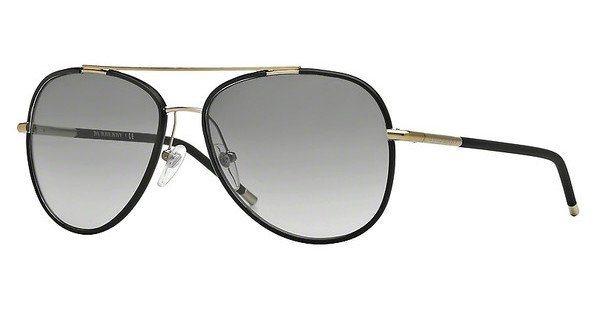 Burberry Herren Sonnenbrille » BE3078J« in 114511 - gold/grau