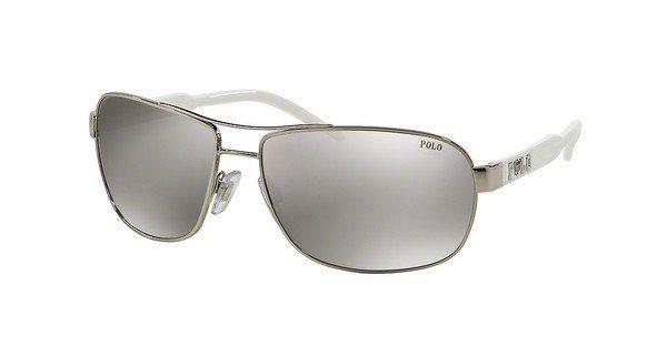 Polo Herren Sonnenbrille » PH3053« in 90018V - silber/silber