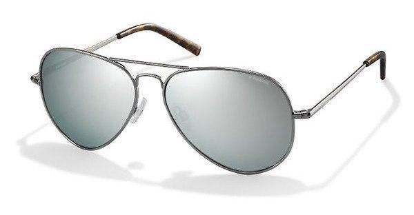 Polaroid Herren Sonnenbrille » PLD 1006/S« in 6LB/JB - silber/ silber