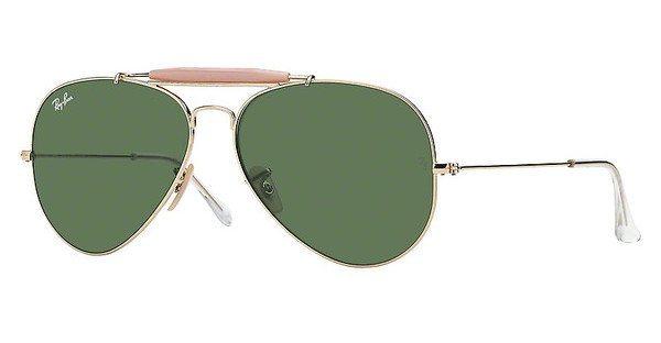 RAY-BAN Herren Sonnenbrille »OUTDOORSMAN II RB3029« in L2112 - gold/grün
