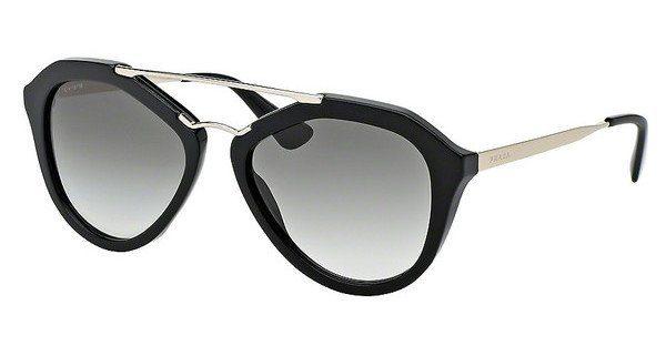 PRADA Prada Damen Sonnenbrille »CINEMA PR 12QS«, schwarz, 1AB1C0 - schwarz/gold