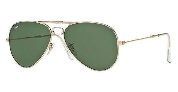 RAY-BAN Herren Sonnenbrille »AVIATOR FOLDING RB3479« in 001 - gold/grün