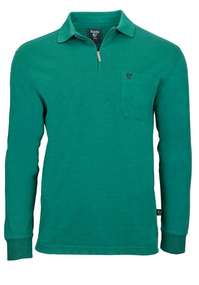 Hajo Poloshirt in blau-grün