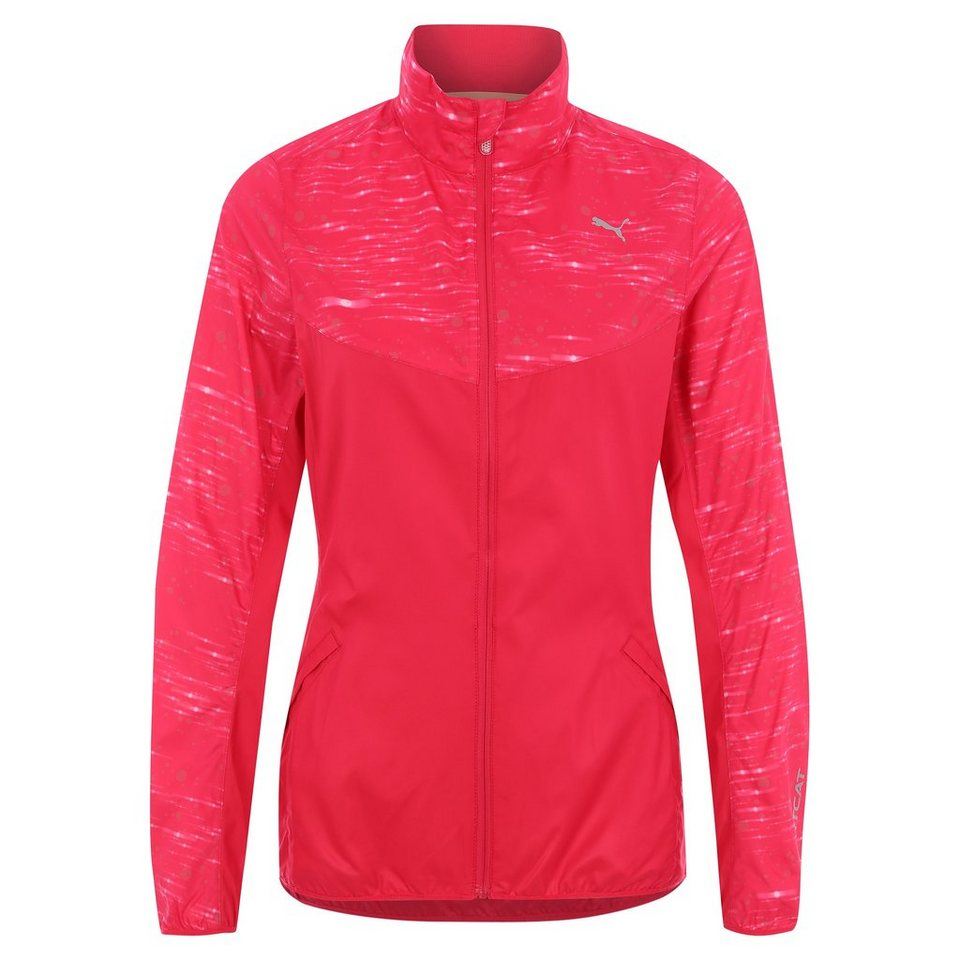PUMA NightCat Laufjacke Damen in rot / silber