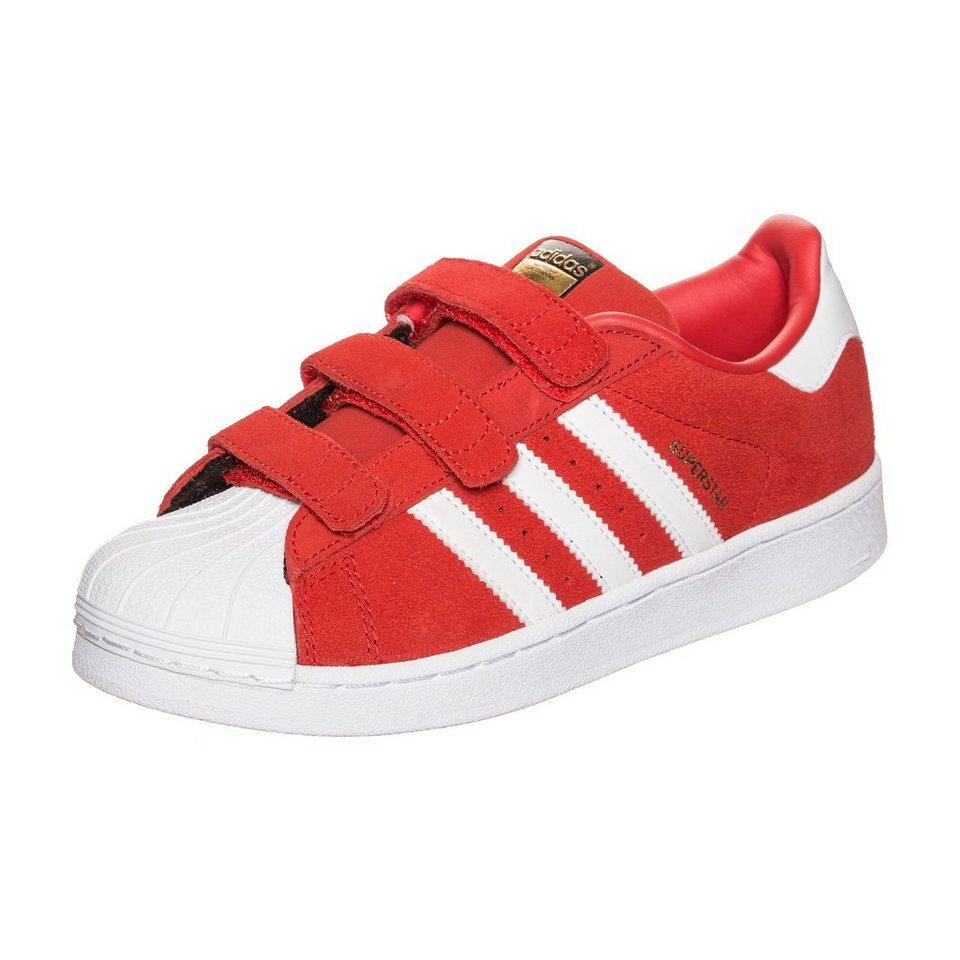 adidas Originals Superstar CF Sneaker Kinder in rot / weiß